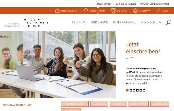 Vorschau von www.fh-trier.de, FH Trier