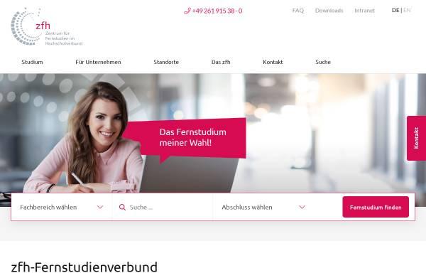 Vorschau von www.zfh.de, Zentrale für Fernstudien an Fachhochschulen (ZFH)