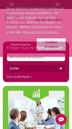 Vorschau der mobilen Webseite www.zfh.de, Zentrale für Fernstudien an Fachhochschulen (ZFH)