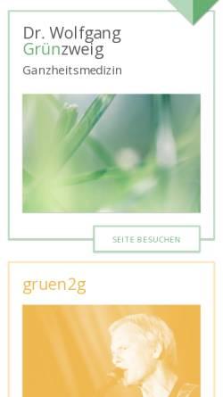 Vorschau der mobilen Webseite www.gruenzweig.co.at, Grünzweig, Dr. Wolfgang