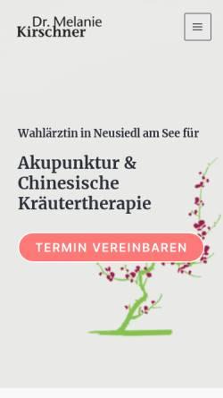 Vorschau der mobilen Webseite www.ordination-kirschner.at, Kirschner, Dr. Melanie