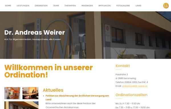 Vorschau von www.dr-weirer.at, Weirer, Dr. med. Andreas