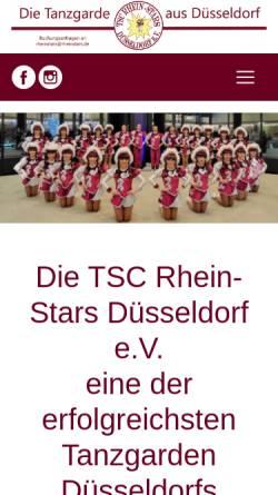 Vorschau der mobilen Webseite www.rheinstars.de, TSC Rhein-Stars
