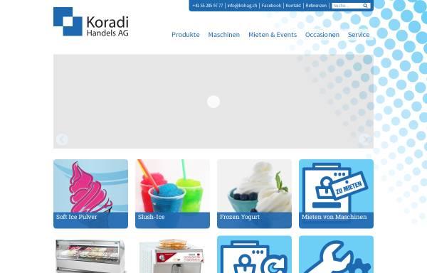 Vorschau von www.kohag.ch, Koradi Handels AG