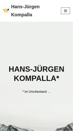 Vorschau der mobilen Webseite www.kompalla.de, Kompalla Coaching