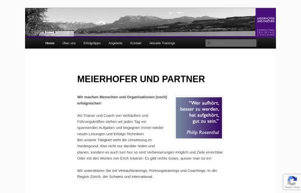 Vorschau von www.meierhofer-partner.ch, Meierhofer und Partner - Consulting, Training und Coaching