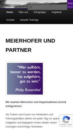 Vorschau der mobilen Webseite www.meierhofer-partner.ch, Meierhofer und Partner - Consulting, Training und Coaching