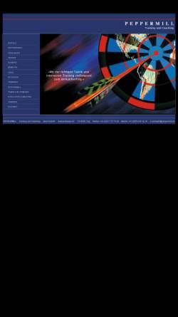 Vorschau der mobilen Webseite www.peppermill.ch, Peppermill