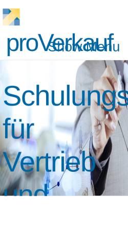 Vorschau der mobilen Webseite www.proverkauf.de, Sabine Zimmermann proVerkauf