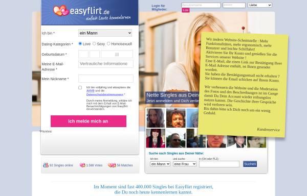 Vorschau von www.easyflirt.de, Easyflirt.de, Bitrockers GmbH