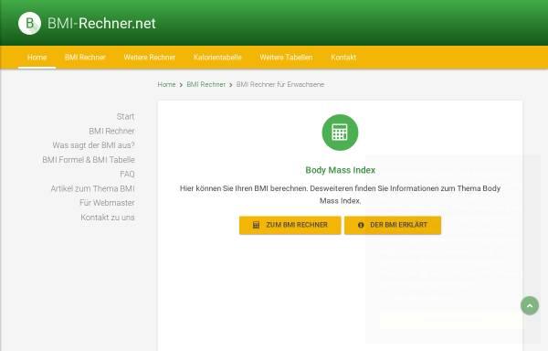 Vorschau von www.bmi-rechner.net, BMI-Rechner.net