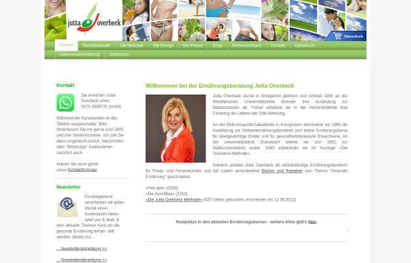 Vorschau von www.juttaoverbeck.de, Jutta Overbeck