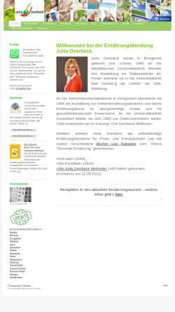 Vorschau der mobilen Webseite www.juttaoverbeck.de, Jutta Overbeck