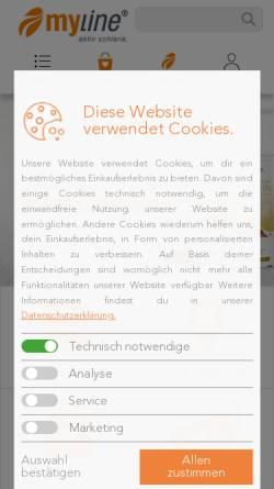 Vorschau der mobilen Webseite www.myline24.de, My Line