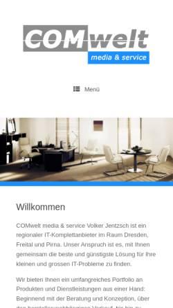 Vorschau der mobilen Webseite www.comwelt-medien.de, COMwelt Medienservice