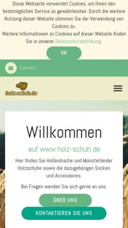 c6264b91526581 ... Klompenverkoop Vorschau der mobilen Webseite www.holz-schuh.de
