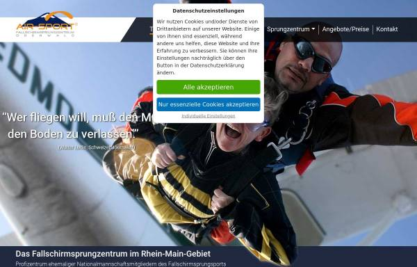 Vorschau von www.air-sport.de, Fallschirm Sportclub Odenwald e.V.