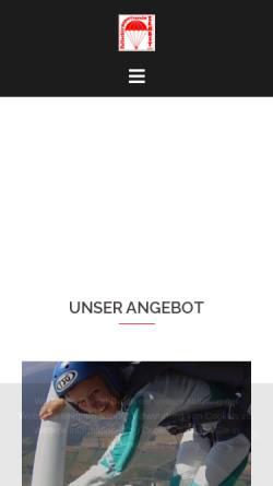 Vorschau der mobilen Webseite www.fallschirmsportzerbst.de, Fallschirmsportverein Zerbst e.V.