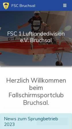 Vorschau der mobilen Webseite www.fsc-bruchsal.de, FSC Bruchsal e.V.