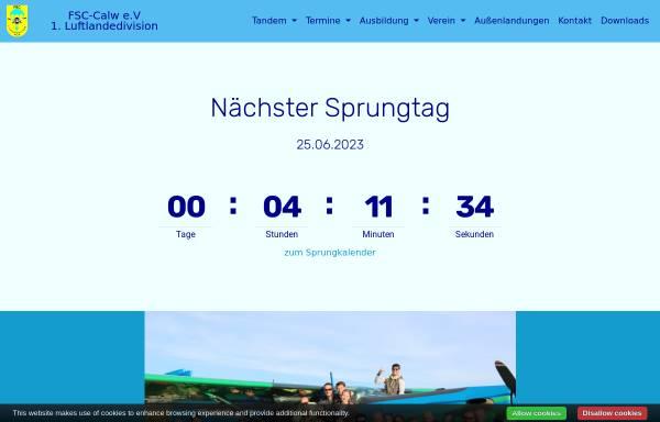 Vorschau von fsc-calw.de, Fallschirmsportspringerclub 1.Luftlandedivision CALW e.V.