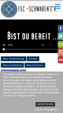Vorschau der mobilen Webseite www.fsc-schwaben.de, FSC Schwaben e.V.