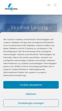 Vorschau der mobilen Webseite www.skydive-leipzig.de, Luftsportclub Leipzig