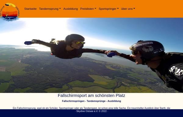 Vorschau von www.skydive-ostsee.de, Skydive Ostsee e.V.