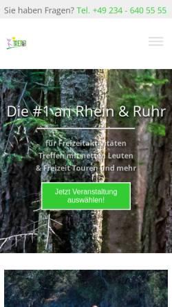 Vorschau der mobilen Webseite www.treffzeit.de, Treffzeit