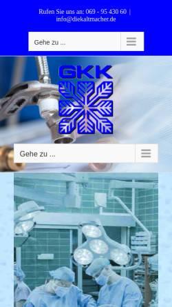 Vorschau der mobilen Webseite www.diekaltmacher.de, Gesellschaft für Kälte- und Klimatechnik mbH & Co. KG