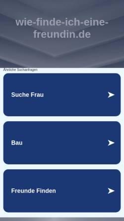 Vorschau der mobilen Webseite wie-finde-ich-eine-freundin.de, Wie-finde-ich-eine-freundin.de