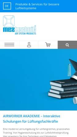 Vorschau der mobilen Webseite www.mez-technik.de, MEZ-Technik GmbH