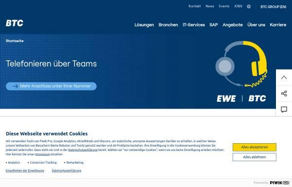 Vorschau von www.btc-ag.com, BTC Business Technology Consulting AG