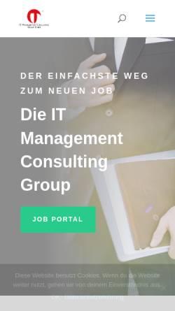 Vorschau der mobilen Webseite itmcg.de, IT Management Consulting Group GmbH