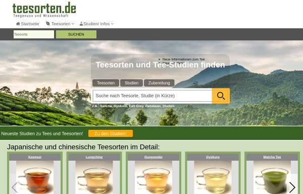 Vorschau von www.teesorten.de, Teesorten.de