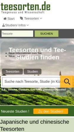 Vorschau der mobilen Webseite www.teesorten.de, Teesorten.de