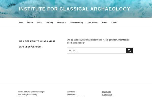 Vorschau von www.aeria.phil.uni-erlangen.de, Antikensammlung Erlangen Internet Archive (AERIA)