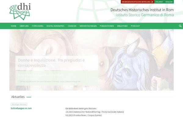 Vorschau von www.dhi-roma.it, Deutsches Historisches Institut in Rom