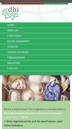 Vorschau der mobilen Webseite www.dhi-roma.it, Deutsches Historisches Institut in Rom