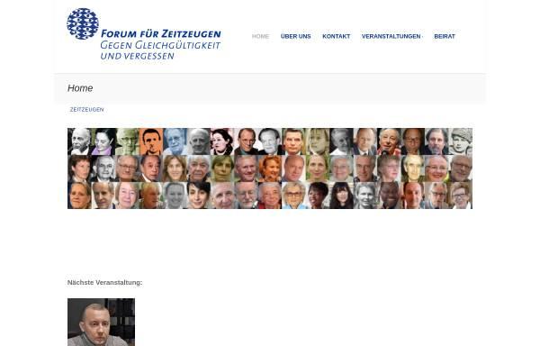 Vorschau von www.zeitzeugen.ch, Forum für Zeit-Zeugen