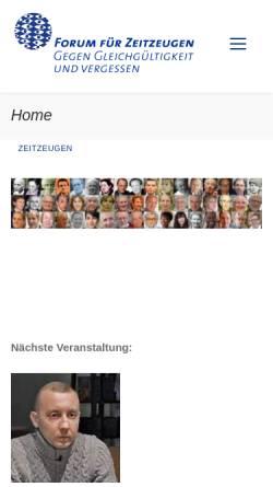 Vorschau der mobilen Webseite www.zeitzeugen.ch, Forum für Zeit-Zeugen