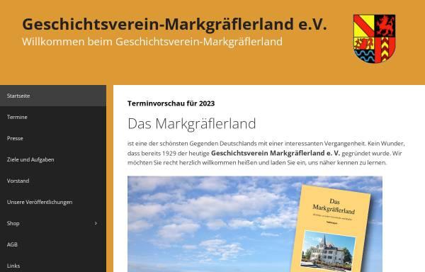 Vorschau von www.geschichtsverein-markgraeflerland.de, Geschichtsverein Markgräflerland