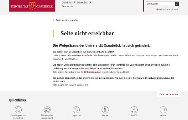 Vorschau von www.geschichte.uni-osnabrueck.de, Gesellschaft zur Förderung der vor- und frühgeschichtlichen Ausgrabungen im Osnabrücker Land e.V.