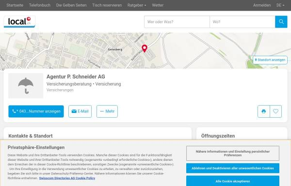 Vorschau von yellow.local.ch, Agentur P. Schneider AG
