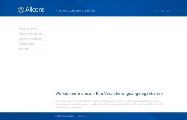 Vorschau von www.allcons.ch, Allcons AG