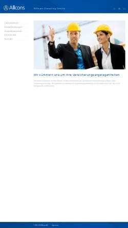Vorschau der mobilen Webseite www.allcons.ch, Allcons AG