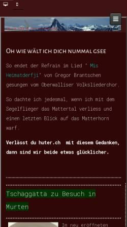 Vorschau der mobilen Webseite huter.ch, Allfinanz - Etienne Huter