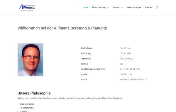 Vorschau von www.aaa-finanz.ch, Allfinanz Beratung & Planung