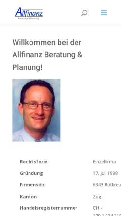 Vorschau der mobilen Webseite www.aaa-finanz.ch, Allfinanz Beratung & Planung