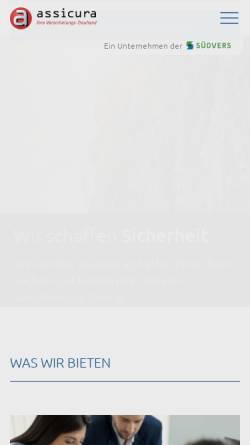 Vorschau der mobilen Webseite www.assicura.ch, Assicura AG