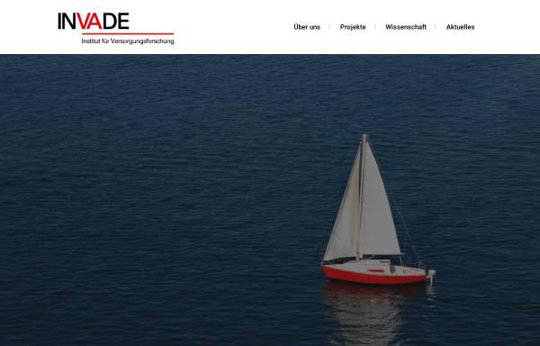 Vorschau von www.invade.de, Interventionsprojekt zerebrovaskuläre Erkrankungen und Demenz